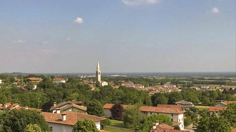 Panoramica di Pozzalis dal campanile
